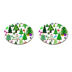 Oh Christmas Tree Cufflinks (oval) by StuffOrSomething