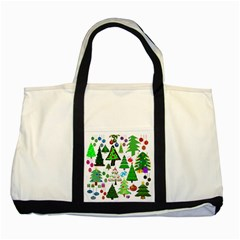 Oh Christmas Tree Two Toned Tote Bag by StuffOrSomething