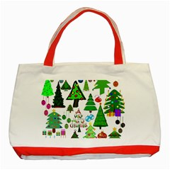 Oh Christmas Tree Classic Tote Bag (red) by StuffOrSomething