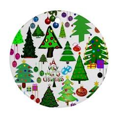 Oh Christmas Tree Round Ornament (two Sides) by StuffOrSomething