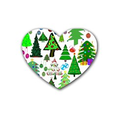 Oh Christmas Tree Drink Coasters 4 Pack (heart)  by StuffOrSomething