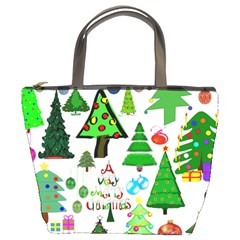 Oh Christmas Tree Bucket Handbag by StuffOrSomething