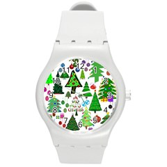 Oh Christmas Tree Plastic Sport Watch (medium) by StuffOrSomething