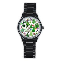Oh Christmas Tree Sport Metal Watch (black) by StuffOrSomething