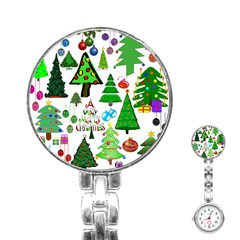 Oh Christmas Tree Stainless Steel Nurses Watch by StuffOrSomething