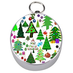 Oh Christmas Tree Silver Compass by StuffOrSomething