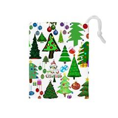 Oh Christmas Tree Drawstring Pouch (medium) by StuffOrSomething