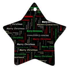 Merry Christmas Typography Art Star Ornament by StuffOrSomething