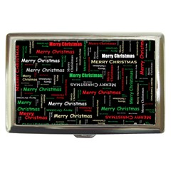 Merry Christmas Typography Art Cigarette Money Case by StuffOrSomething