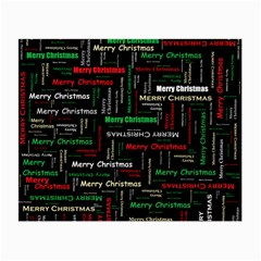 Merry Christmas Typography Art Glasses Cloth (small) by StuffOrSomething
