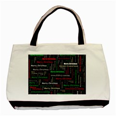Merry Christmas Typography Art Classic Tote Bag by StuffOrSomething