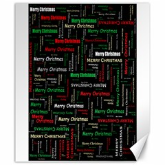 Merry Christmas Typography Art Canvas 20  X 24  (unframed) by StuffOrSomething