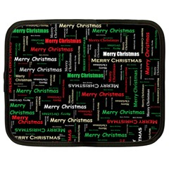 Merry Christmas Typography Art Netbook Sleeve (large) by StuffOrSomething