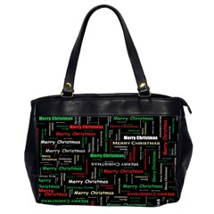 Merry Christmas Typography Art Oversize Office Handbag (two Sides) by StuffOrSomething