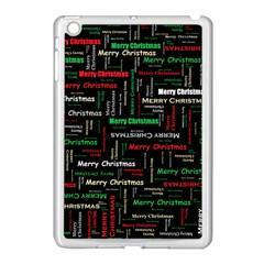 Merry Christmas Typography Art Apple Ipad Mini Case (white) by StuffOrSomething