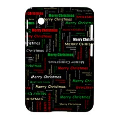 Merry Christmas Typography Art Samsung Galaxy Tab 2 (7 ) P3100 Hardshell Case  by StuffOrSomething