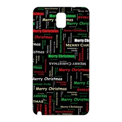 Merry Christmas Typography Art Samsung Galaxy Note 3 N9005 Hardshell Back Case by StuffOrSomething