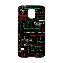 Merry Christmas Typography Art Samsung Galaxy S5 Hardshell Case  by StuffOrSomething
