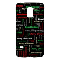 Merry Christmas Typography Art Samsung Galaxy S5 Mini Hardshell Case  by StuffOrSomething