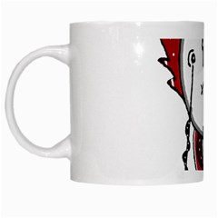 Alien Robot Hand Draw Illustration White Coffee Mug by dflcprints