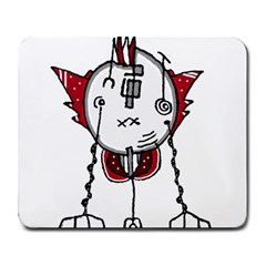 Alien Robot Hand Draw Illustration Large Mouse Pad (rectangle) by dflcprints