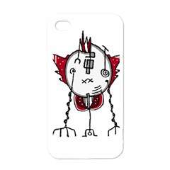 Alien Robot Hand Draw Illustration Apple Iphone 4 Case (white) by dflcprints