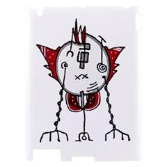 Alien Robot Hand Draw Illustration Apple iPad 2 Hardshell Case by dflcprints