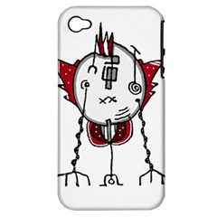 Alien Robot Hand Draw Illustration Apple Iphone 4/4s Hardshell Case (pc+silicone) by dflcprints