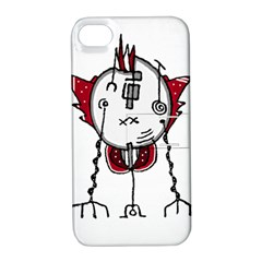 Alien Robot Hand Draw Illustration Apple Iphone 4/4s Hardshell Case With Stand by dflcprints