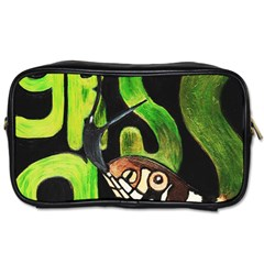 Grass Snake Travel Toiletry Bag (two Sides) by JUNEIPER07
