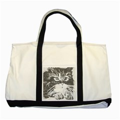 Kitten Two Toned Tote Bag by JUNEIPER07