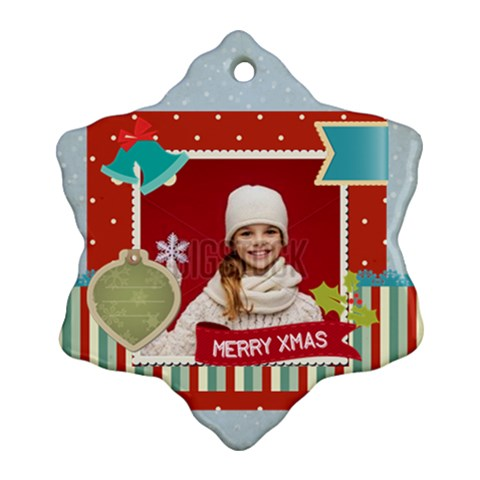 Xmas By Xmas   Ornament (snowflake)   Wmw41dtx15a5   Www Artscow Com Front