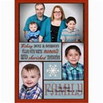 Shaw Xmas Card 2014 - 5  x 7  Photo Cards
