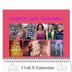 Laylas 2015 Calendar By Katy   Wall Calendar 11  X 8 5  (12 Months)   K54t8h6f5k23   Www Artscow Com Cover
