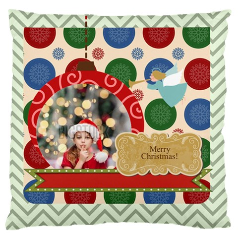 Xmas By Xmas4   Large Cushion Case (one Side)   Syv33tkfbjxn   Www Artscow Com Front