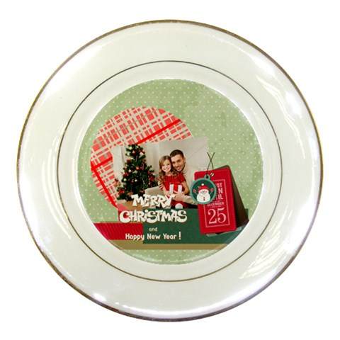 Xmas By Xmas4   Porcelain Plate   Zpgzn5hhabc3   Www Artscow Com Front