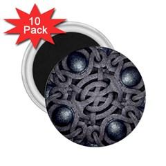 Mystic Arabesque 2 25  Button Magnet (10 Pack) by dflcprints