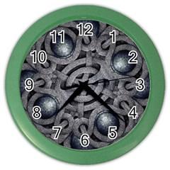Mystic Arabesque Wall Clock (color) by dflcprints