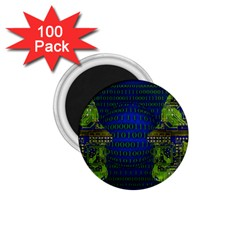 Binary Communication 1 75  Button Magnet (100 Pack)