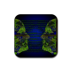 Binary Communication Drink Coasters 4 Pack (square)