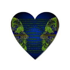 Binary Communication Magnet (heart)