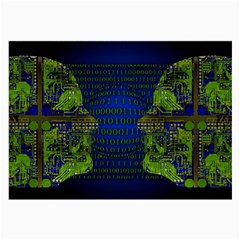 Binary Communication Glasses Cloth (large, Two Sided)
