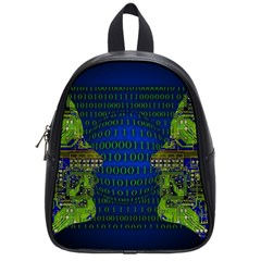 Binary Communication School Bag (small) by StuffOrSomething