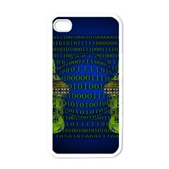 Binary Communication Apple iPhone 4 Case (White) by StuffOrSomething