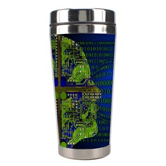 Binary Communication Stainless Steel Travel Tumbler by StuffOrSomething