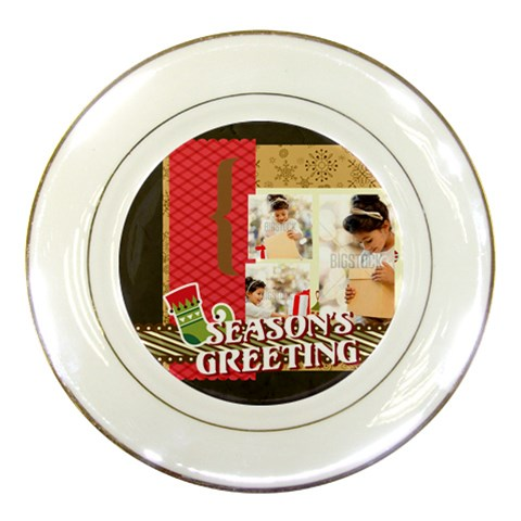 Xmas By Xmas4   Porcelain Plate   52sumlbx48yc   Www Artscow Com Front