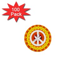 Psychedelic Peace Dove Mandala 1  Mini Button (100 Pack) by StuffOrSomething