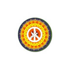 Psychedelic Peace Dove Mandala Golf Ball Marker 4 Pack by StuffOrSomething