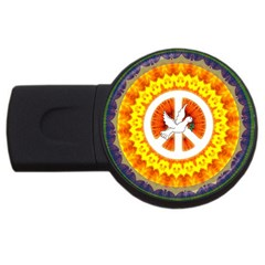 Psychedelic Peace Dove Mandala 2gb Usb Flash Drive (round) by StuffOrSomething