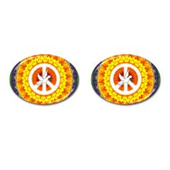 Psychedelic Peace Dove Mandala Cufflinks (oval) by StuffOrSomething